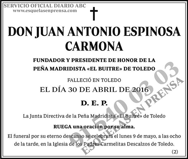 Juan Antonio Espinosa Carmona